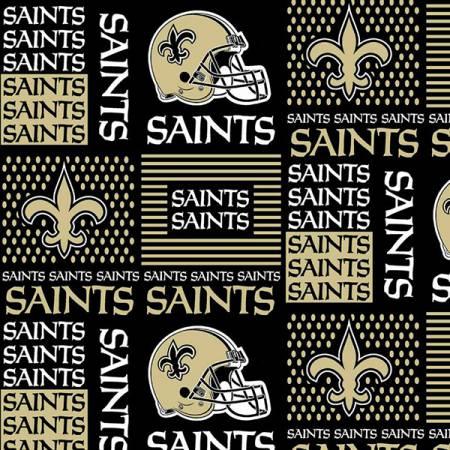 NFL New Orleans Saints 6436-D Patchwork Cotton 58-60in