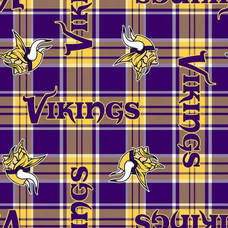 NFL Minnesota Vikings Plaid Fleece 58