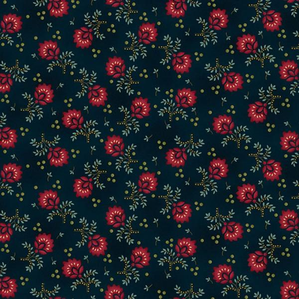Kim Diehl Gathering Basket Large Flower Navy 6438 77