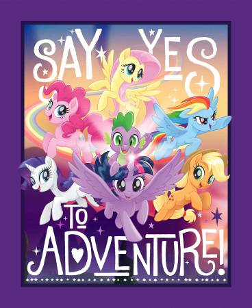 My Little Pony Say Yes to Adventure Panel 36in