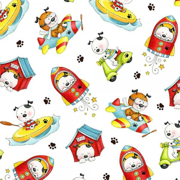 Spots Perfect Day 6451 Multi Tossed Dogs