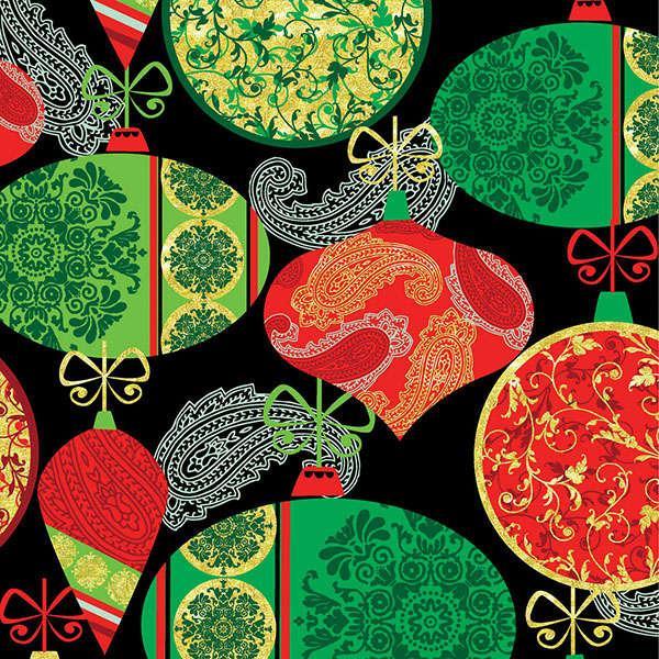*Red/Green Ornaments w/Metallic