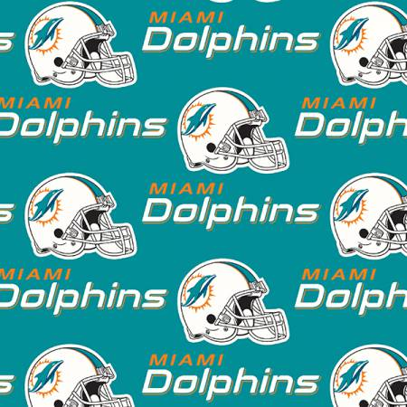 NFL Miami Dolphins 6459-D Cotton 58- 60in
