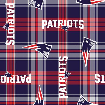 NFL New England Patriots Plaid Fleece