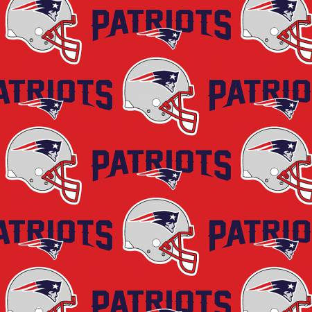 Red NFL New England Patriots by Fabric Traditions