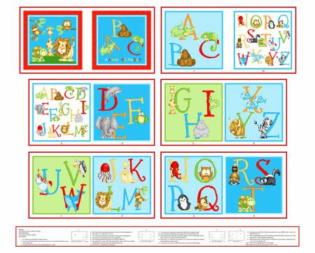 ABC Animal Alphabet Book Panel
