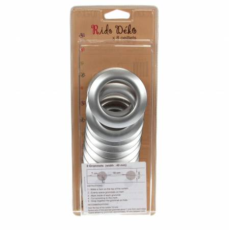 Grommets 40mm Round 4 sets Matte Silver