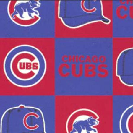 Blue/Red MLB Chicago Cubs Fleece 60in