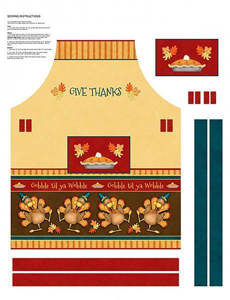 Give Thanks - Apron Panel