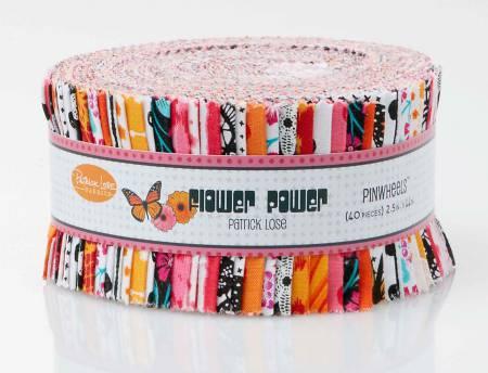 Flower Power ORANGE 2-1/2in Strips 40pc, 3 bundles per pack