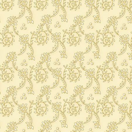 Butterchurn Basics Cream Wallpaper Scroll #6556-44 by Kim Diehl