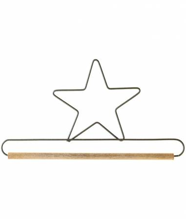 6in Star Decorative Craft Hanger w/1/4in Dowel Gray