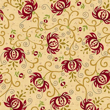 Spiced Pomegranate 108 Wide Quilt Back