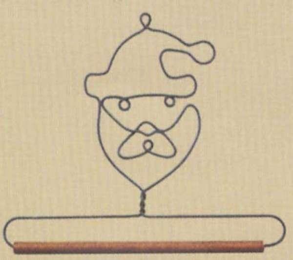 6in Santa Decorative Craft Hanger