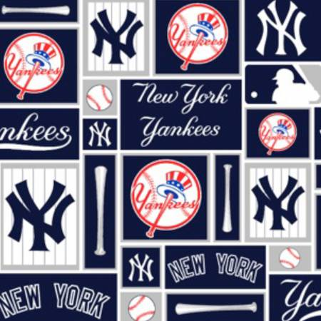 Fabric Traditions MLB Cotton New York Yankees 58 in - Patch