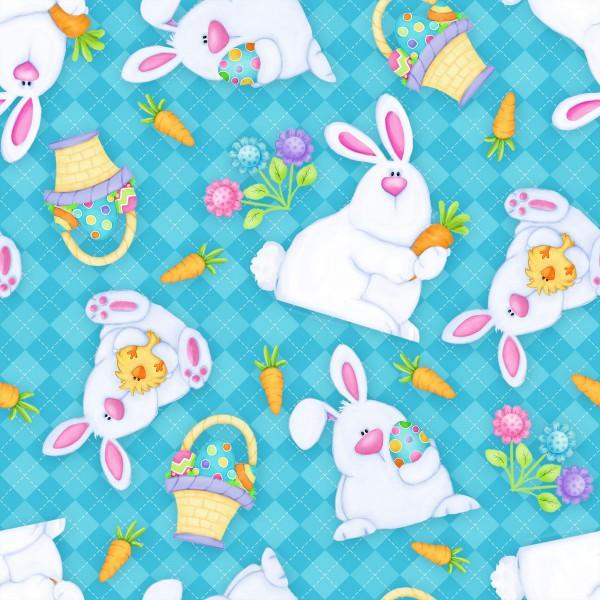 F-CB-HGL-HIP-05 - Turquoise Bunnies & Baskets