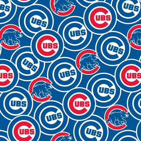 MLB Chicago Cubs Cotton repeating design