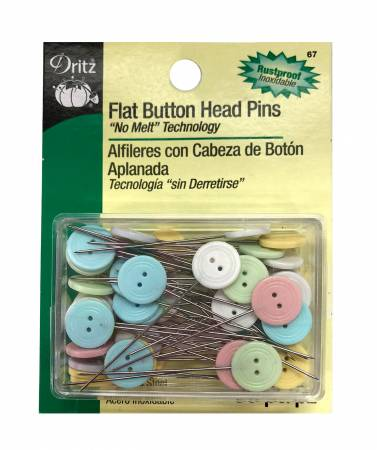 Button Flat Head Pins Size 24 - 1 1/2in 50ct