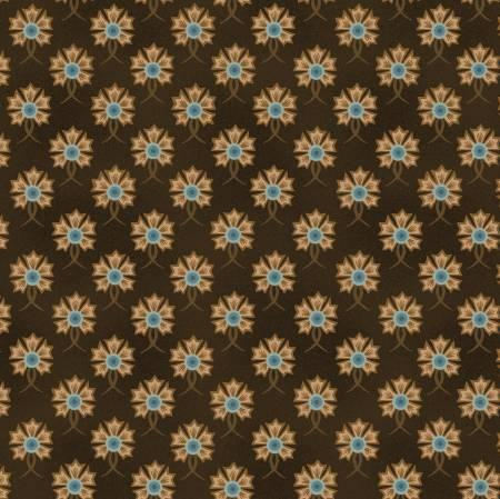 Fiddlesticks & Fancies - Brown Floral