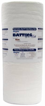 BAT WHITE COTTON BATTING 62 NEEDLE PUNCHED