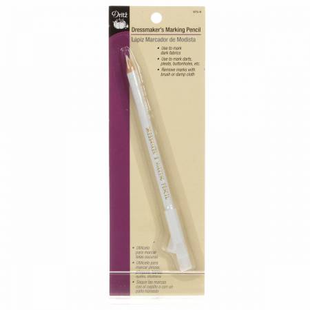 Dressmaker's Marking Pencil With Brush White