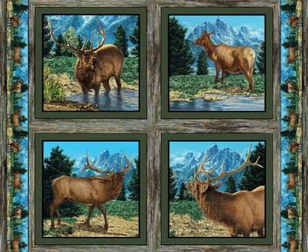 GLENSON ELK PILLOW PANEL