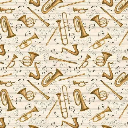Classically Trained Ivory Brass Instrument Toss