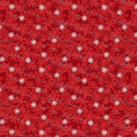 Red Winter Time Snowflakes