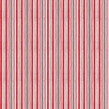 Red Winter Time Stripe