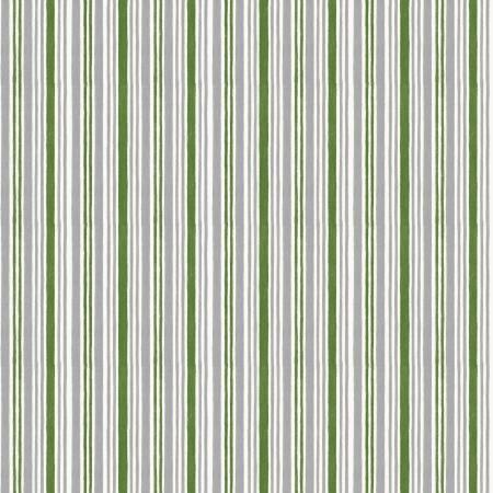 Winter Gnomes Green Winter Time Stripe 67577-791