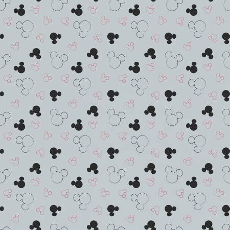 Disney Mickey Mouse Head Toss Flannel