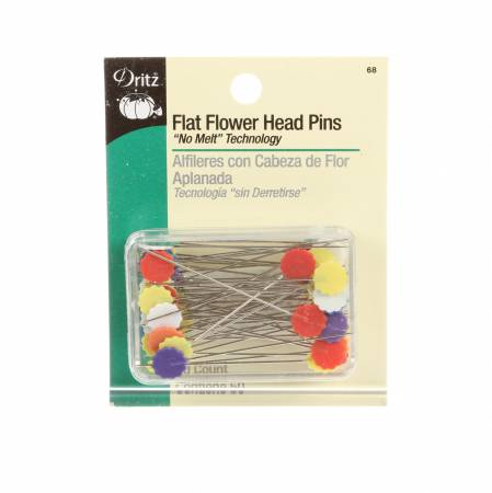 Flower Head Pin 50ct Multi Color