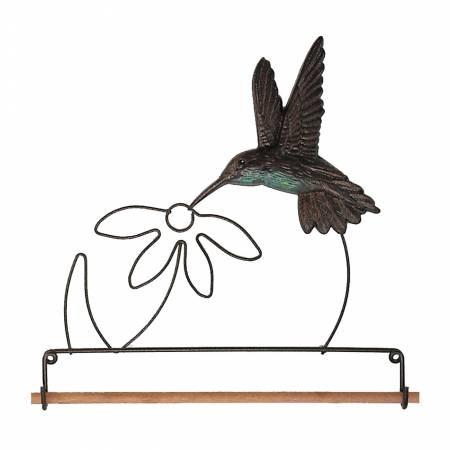 7-1/2in Tin Humming Bird Fabric Holder