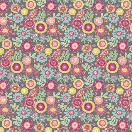 Grey Small Sunshine Floral