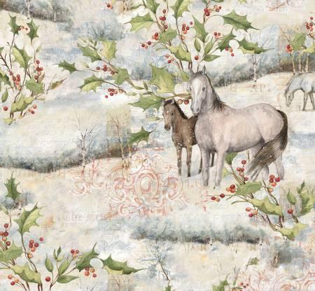 Christmas Mid Winter Scenic Horses