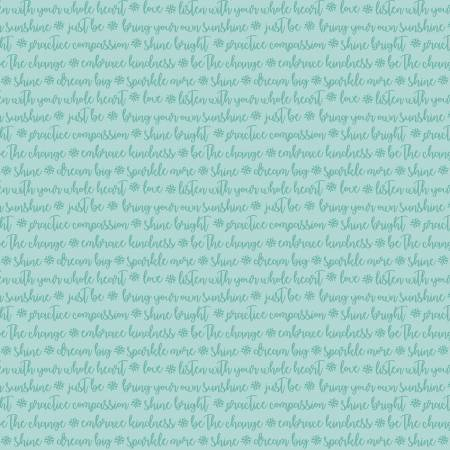 Words of Kindness-turquoise