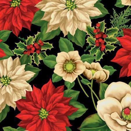 Black Large Floral 68441 937