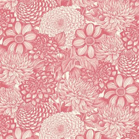 68470 133 Floral Toile Le Bouquet by Ann Rowan for Wilmington Prints. 100% cotton 43 wide