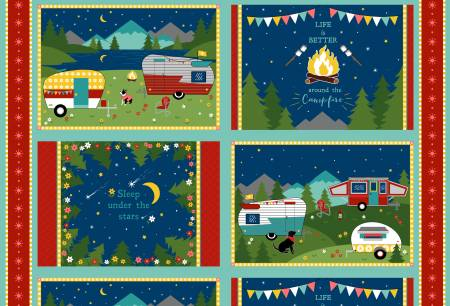 Multi Gone Glamping Placemat Panel