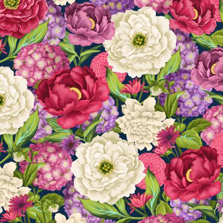 Wilmington Prints - Multi Large Packed Floral - 68492 - 361
