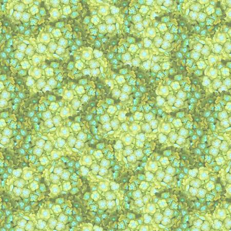 Wilmington Prints - Green Packed Hydrangea - 68495 - 747