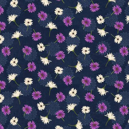 Navy Small Floral