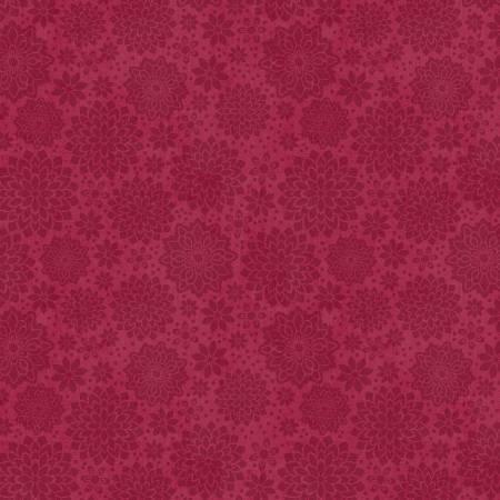 Wilmington Prints - Burgundy Shadow Dahlia -68498 - 333
