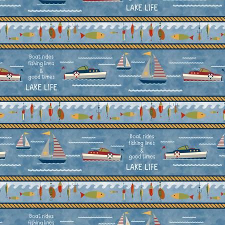 Lake Life Repeating Multi Stripe