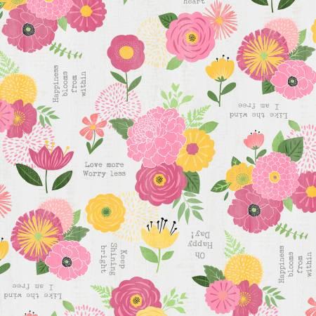 Light Grey Florals & Sentiments