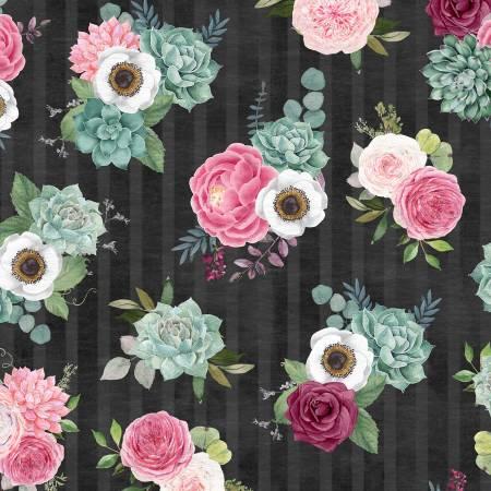 Black Bouquets Allover WP082120