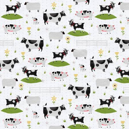 Country Life Light Grey Large Animals