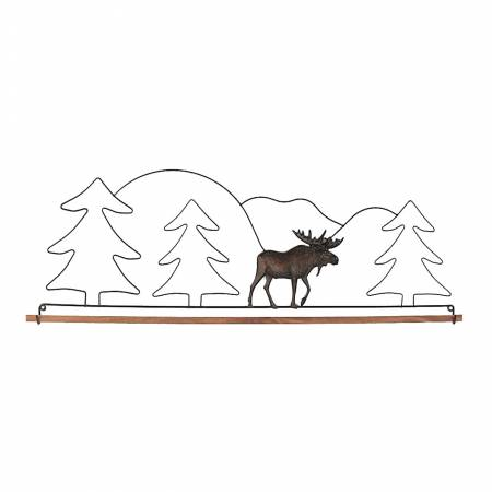22in Tin Moose Fabric Hanger