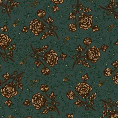 Helping Hands - Teal Wild Rose