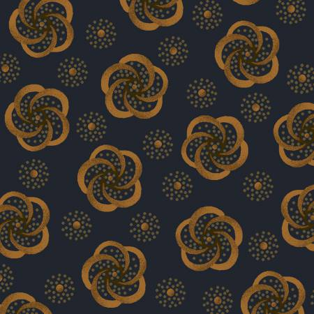 Dark Blue Stylized Flower